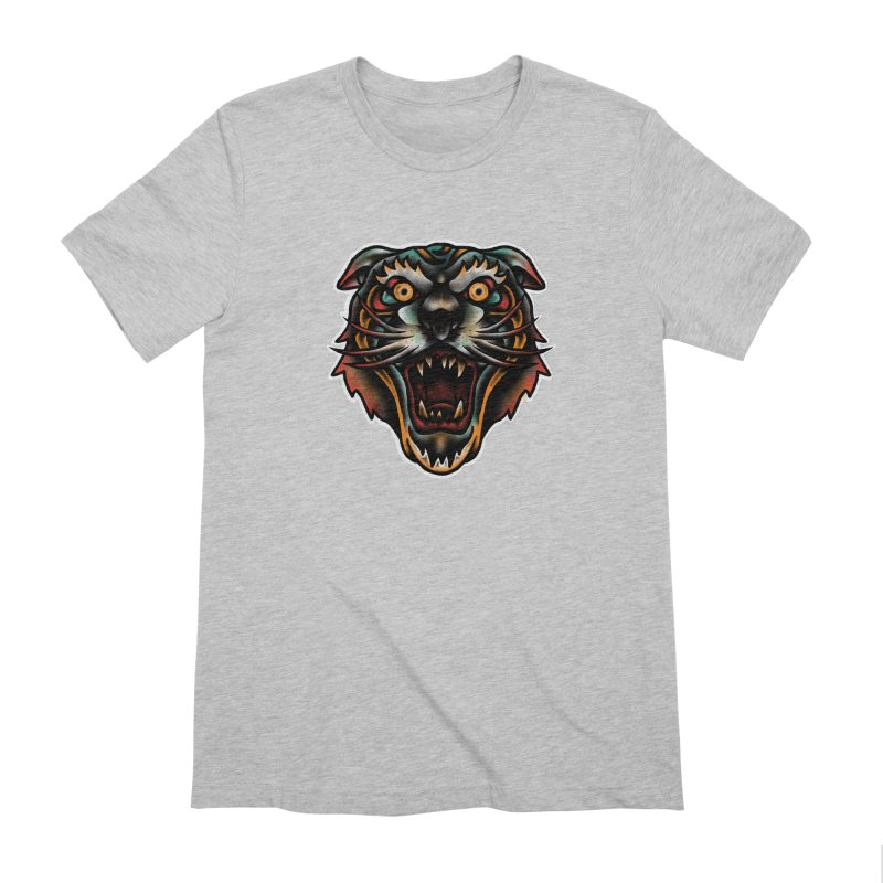 Tiger fighter Men's Extra Soft T-Shirt by barmalisiRTB