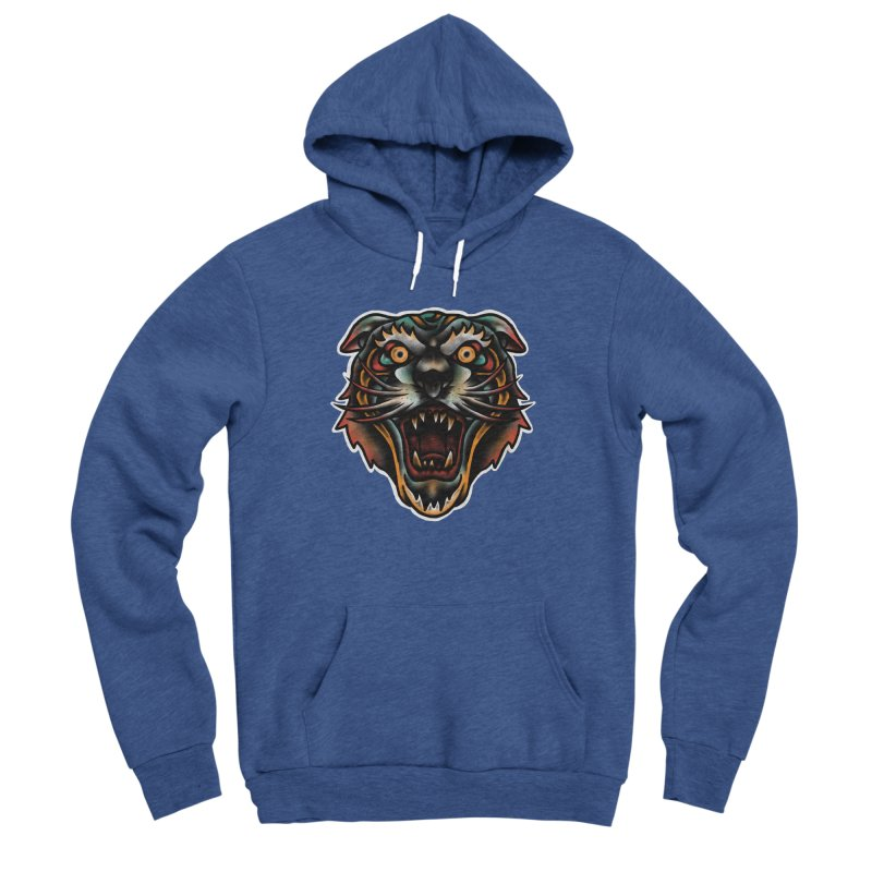 Tiger fighter Men's Sponge Fleece Pullover Hoody by barmalisiRTB