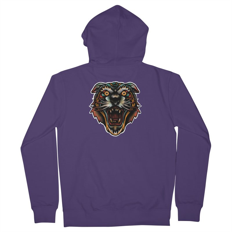 Tiger fighter Women's French Terry Zip-Up Hoody by barmalisiRTB