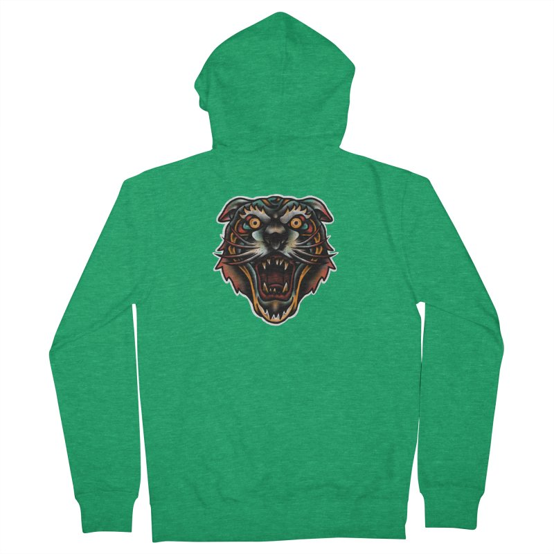 Tiger fighter Men's French Terry Zip-Up Hoody by barmalisiRTB