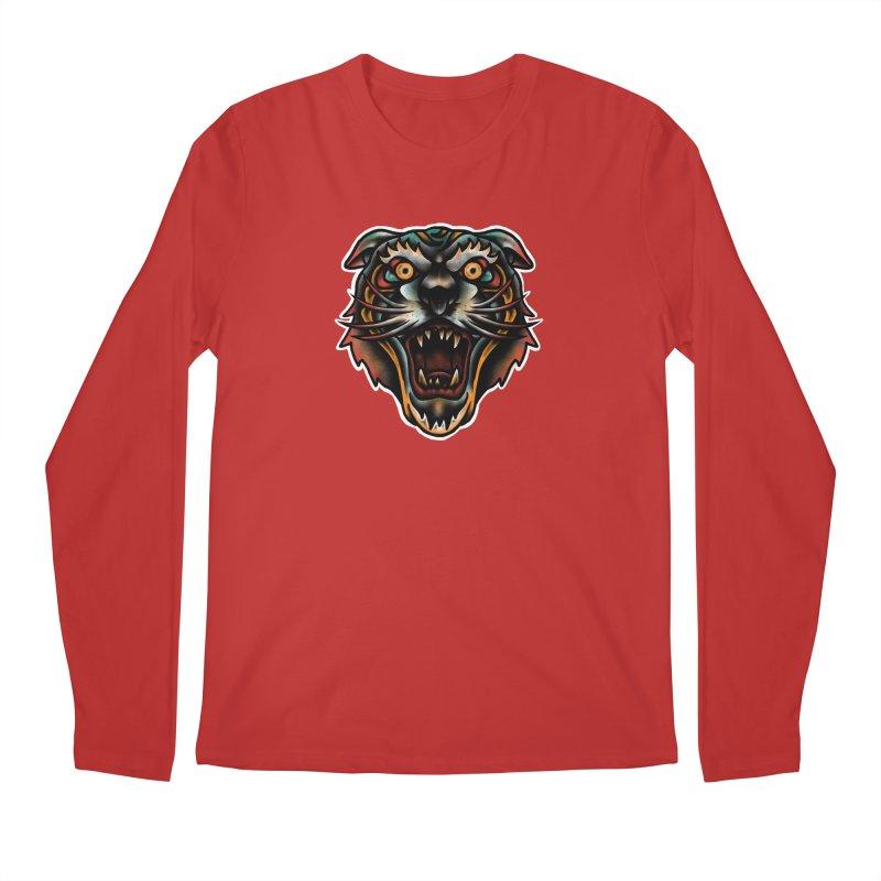 Tiger fighter Men's Regular Longsleeve T-Shirt by barmalisiRTB