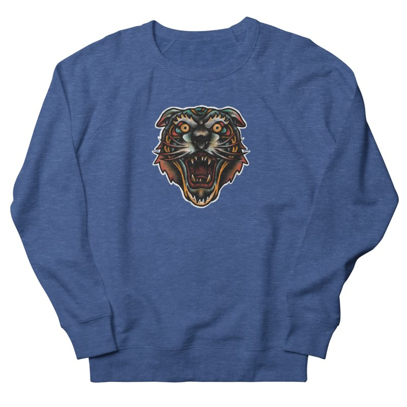 Tiger fighter Women's French Terry Sweatshirt by barmalisiRTB