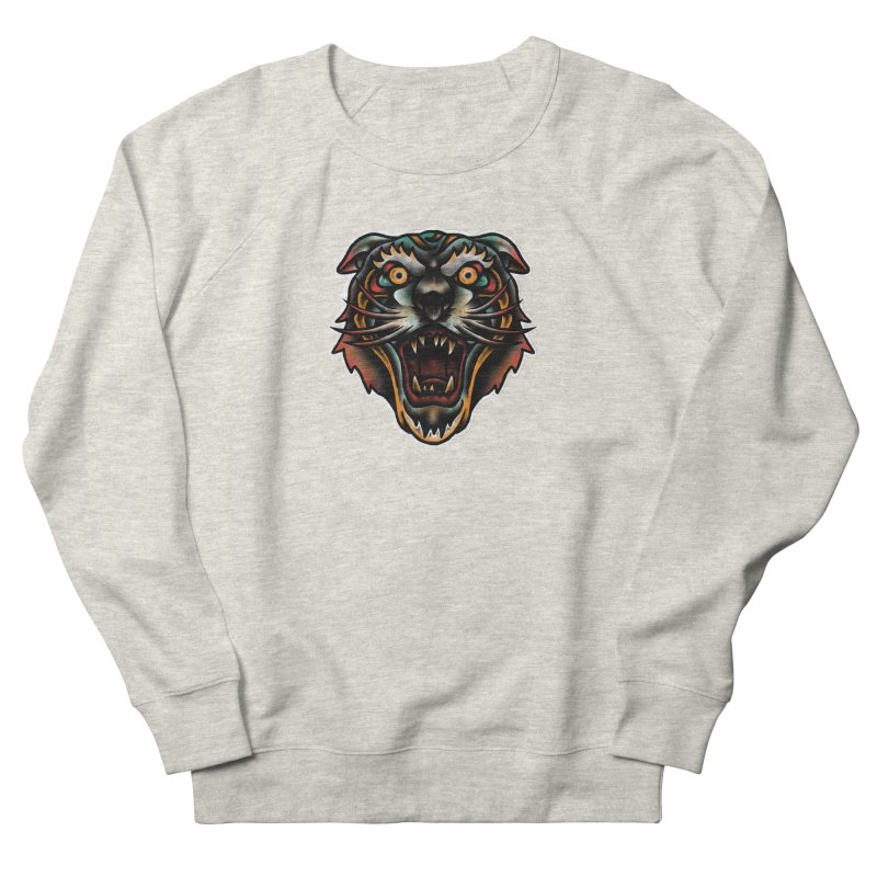 Tiger fighter Men's French Terry Sweatshirt by barmalisiRTB