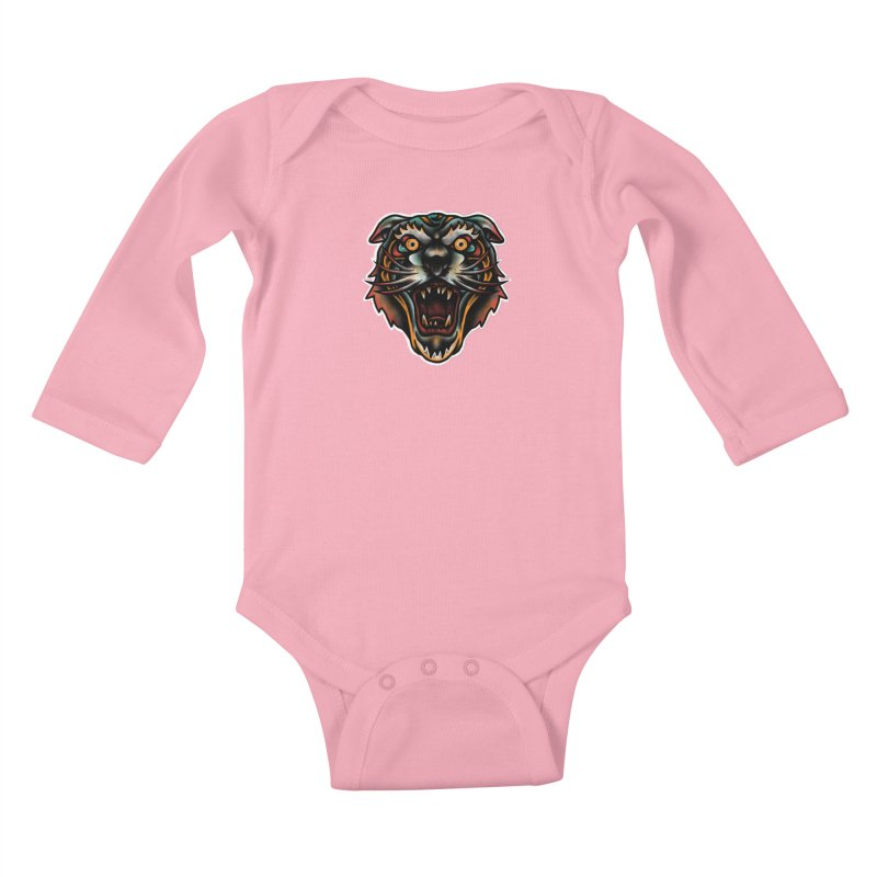 Tiger fighter Kids Baby Longsleeve Bodysuit by barmalisiRTB