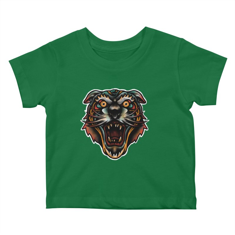 Tiger fighter Kids Baby T-Shirt by barmalisiRTB