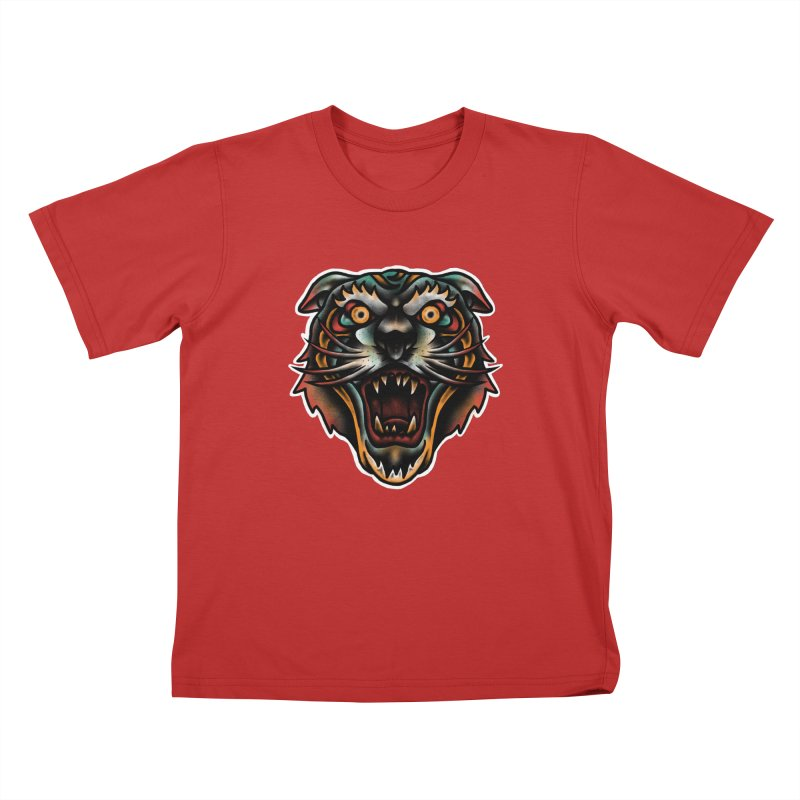 Tiger fighter Kids T-Shirt by barmalisiRTB