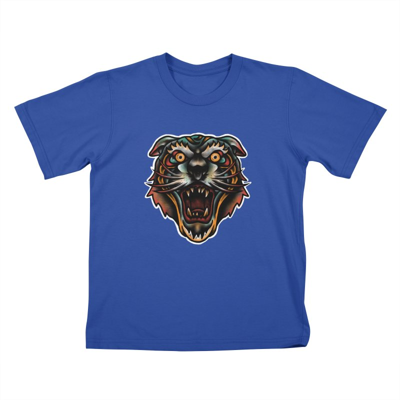 Tiger fighter Kids T-Shirt by barmalisiRTB