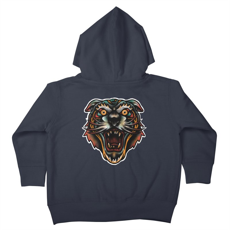 Tiger fighter Kids Toddler Zip-Up Hoody by barmalisiRTB