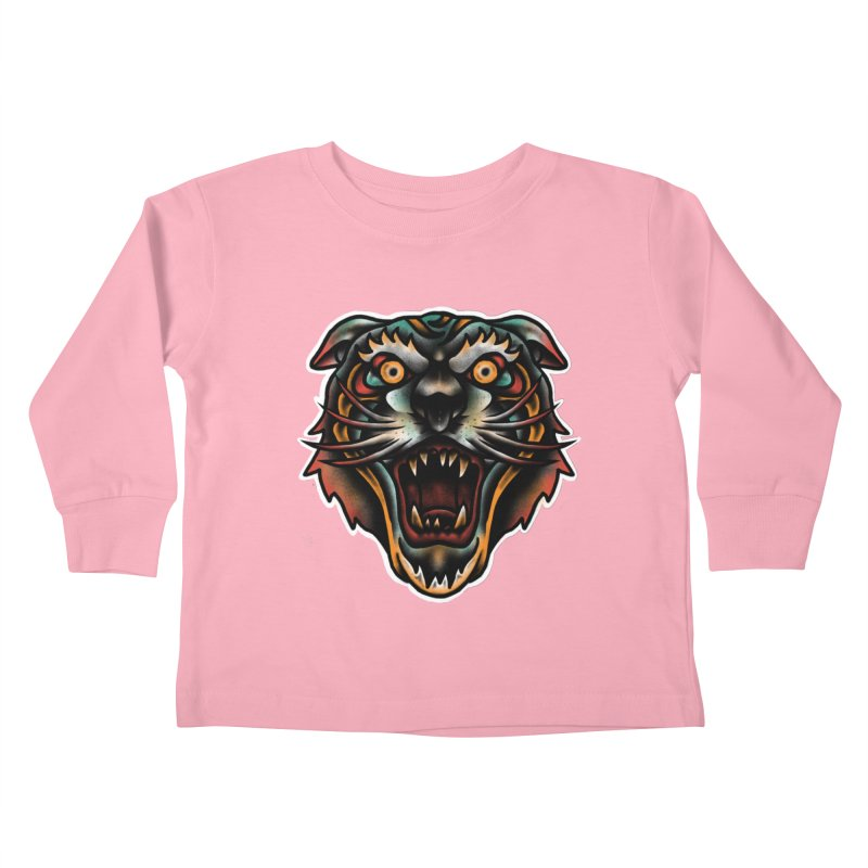 Tiger fighter Kids Toddler Longsleeve T-Shirt by barmalisiRTB