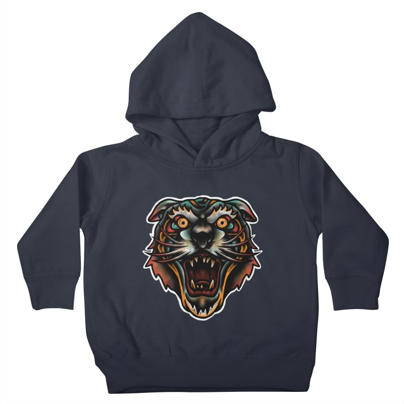 Tiger fighter Kids Toddler Pullover Hoody by barmalisiRTB