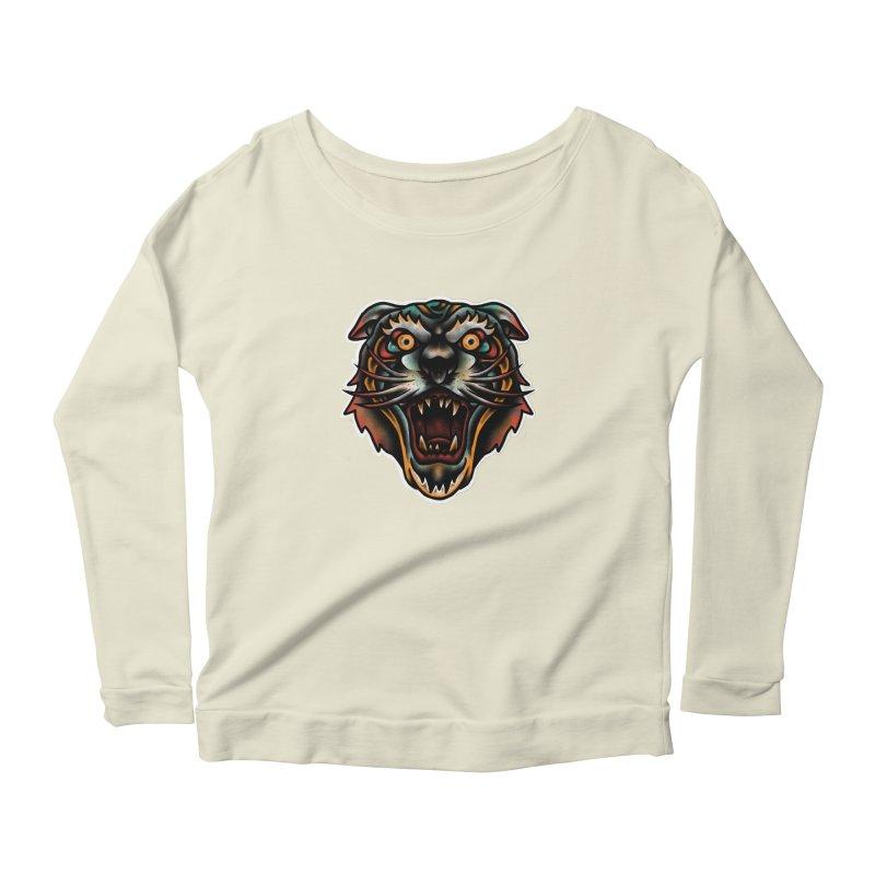 Tiger fighter Women's Scoop Neck Longsleeve T-Shirt by barmalisiRTB