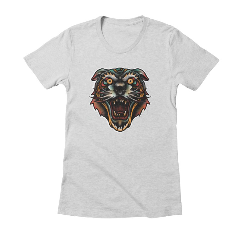 Tiger fighter Women's Fitted T-Shirt by barmalisiRTB