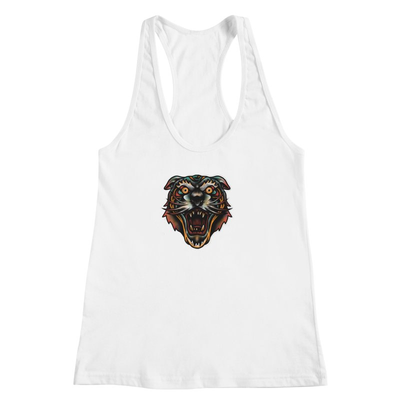 Tiger fighter Women's Racerback Tank by barmalisiRTB