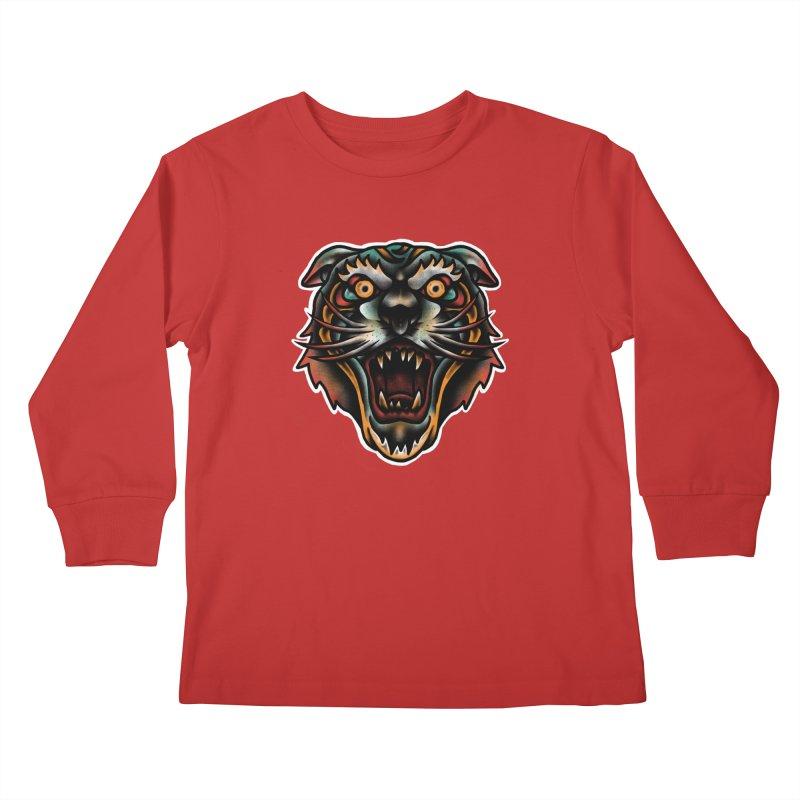 Tiger fighter Kids Longsleeve T-Shirt by barmalisiRTB