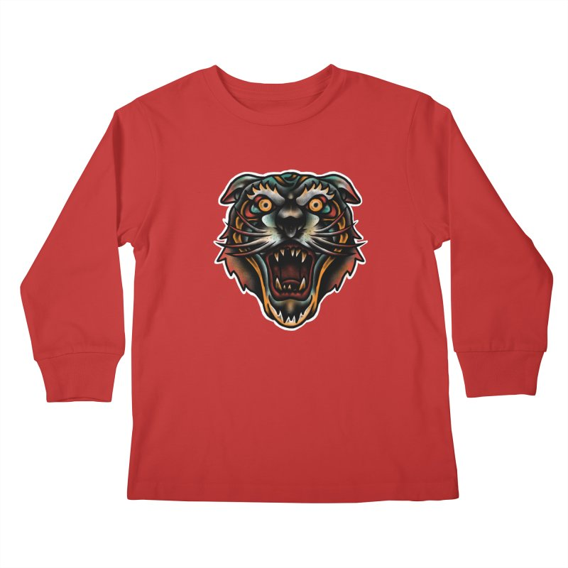Tiger fighter Kids Longsleeve T-Shirt by barmalisiRTB