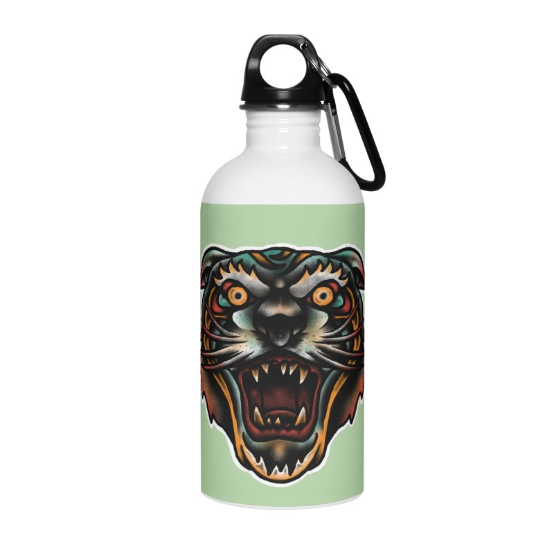 Tiger fighter Accessories Water Bottle by barmalisiRTB