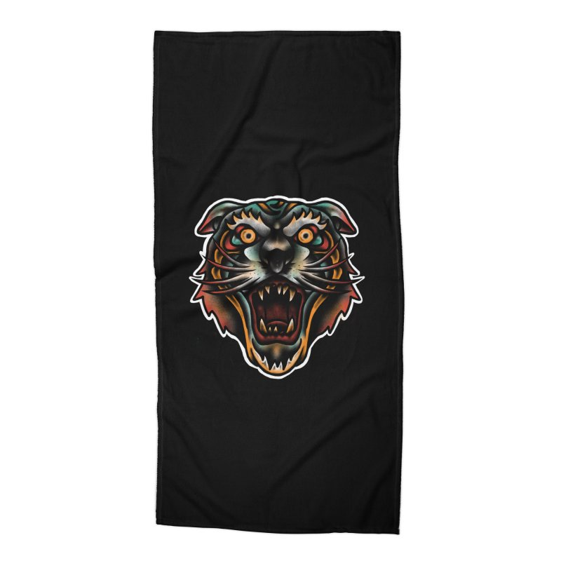 Tiger fighter Accessories Beach Towel by barmalisiRTB