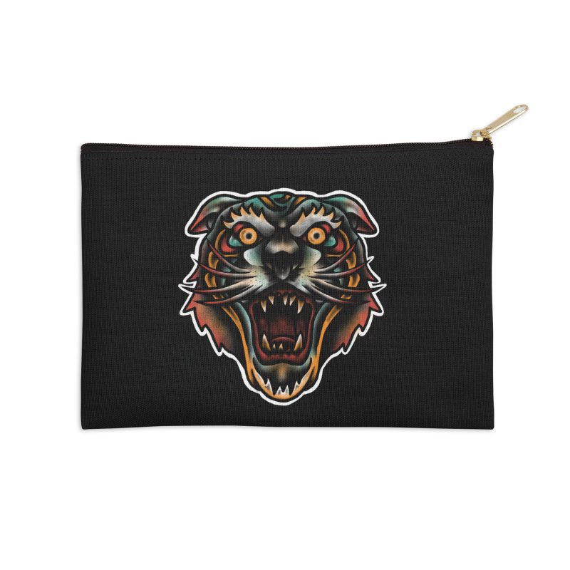 Tiger fighter Accessories Zip Pouch by barmalisiRTB