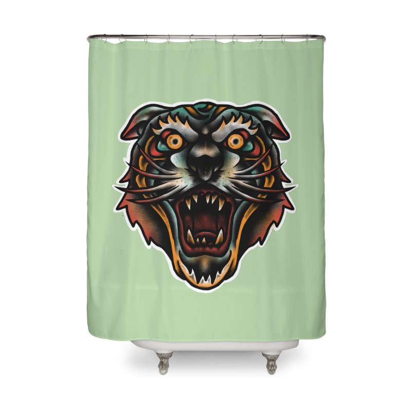 Tiger fighter Home Shower Curtain by barmalisiRTB