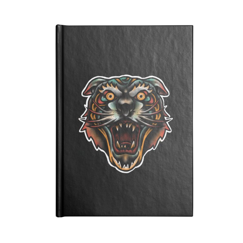Tiger fighter Accessories Blank Journal Notebook by barmalisiRTB