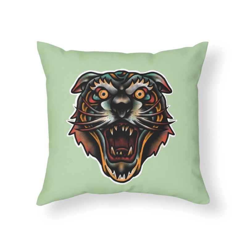 Tiger fighter Home Throw Pillow by barmalisiRTB