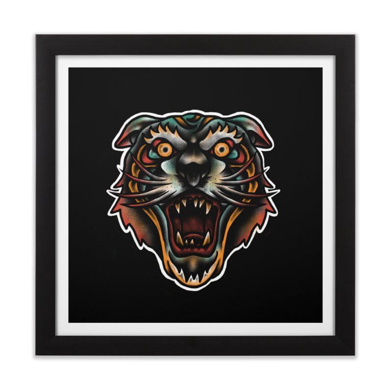 Tiger fighter Home Framed Fine Art Print by barmalisiRTB