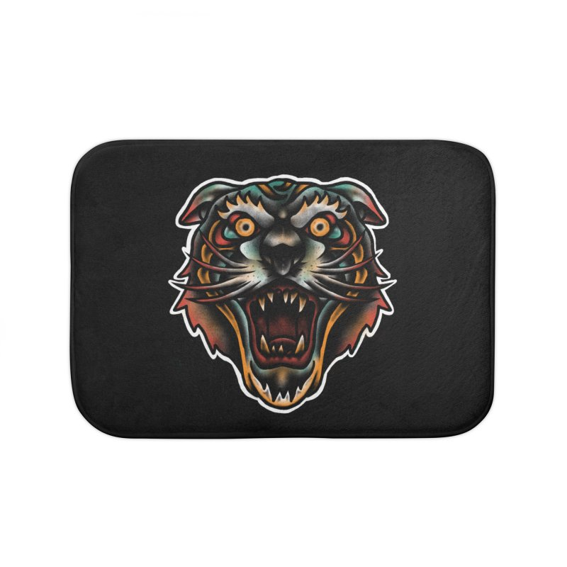 Tiger fighter Home Bath Mat by barmalisiRTB