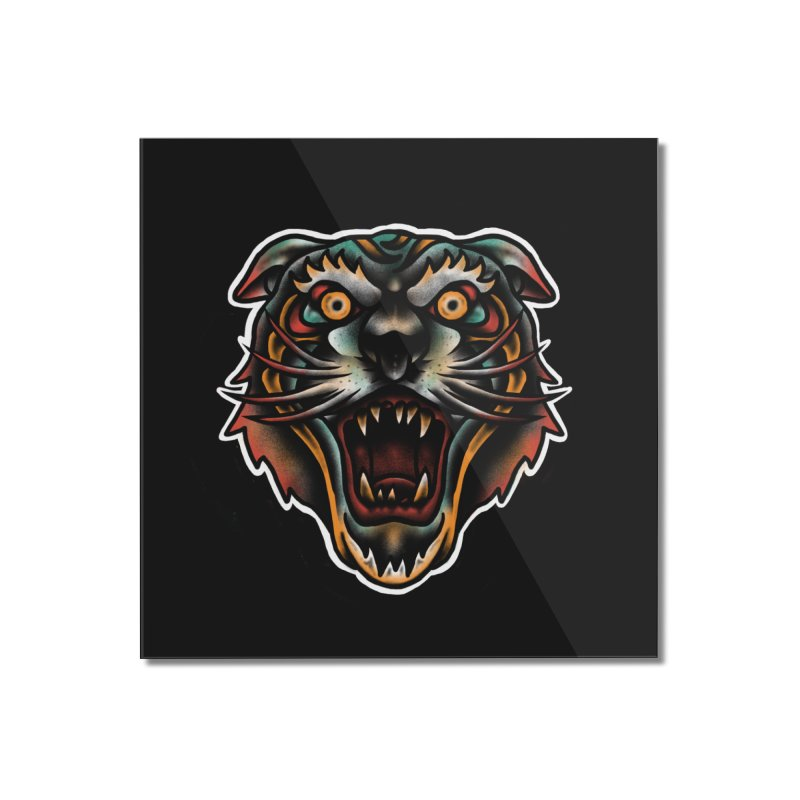 Tiger fighter Home Mounted Acrylic Print by barmalisiRTB