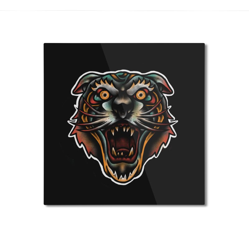Tiger fighter Home Mounted Aluminum Print by barmalisiRTB