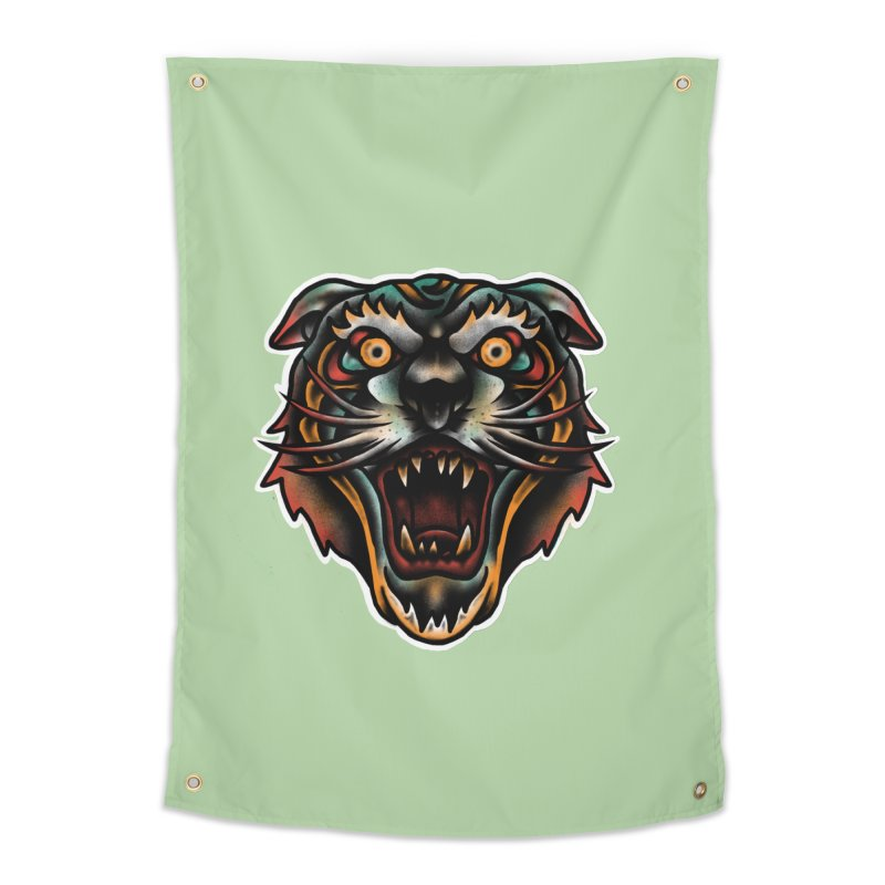 Tiger fighter Home Tapestry by barmalisiRTB
