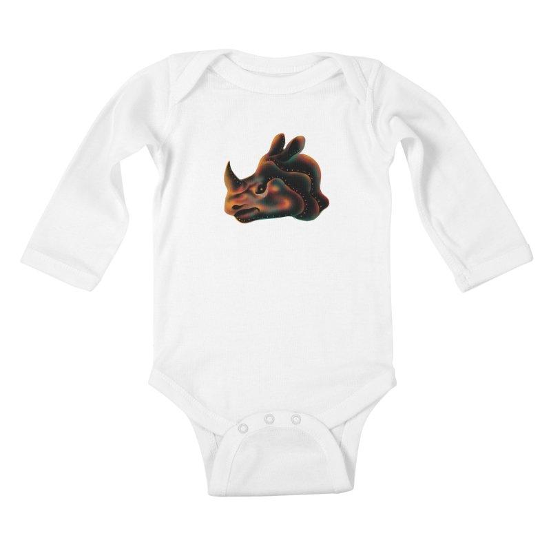 Rhino strength Kids Baby Longsleeve Bodysuit by barmalisiRTB
