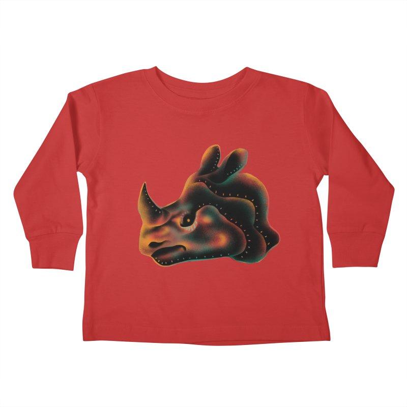 Rhino strength Kids Toddler Longsleeve T-Shirt by barmalisiRTB
