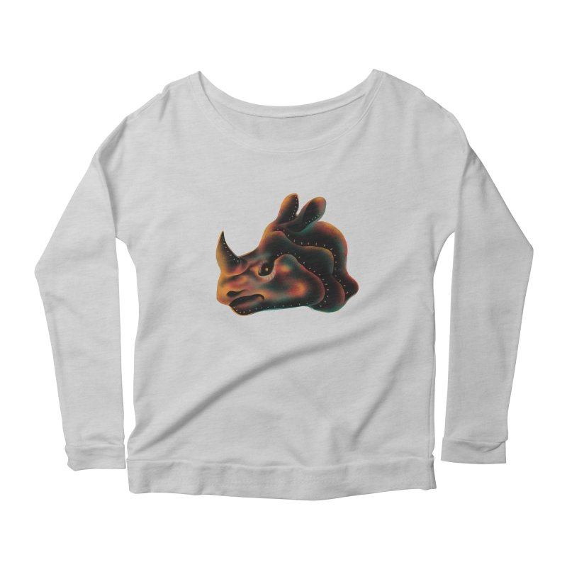 Rhino strength Women's Scoop Neck Longsleeve T-Shirt by barmalisiRTB