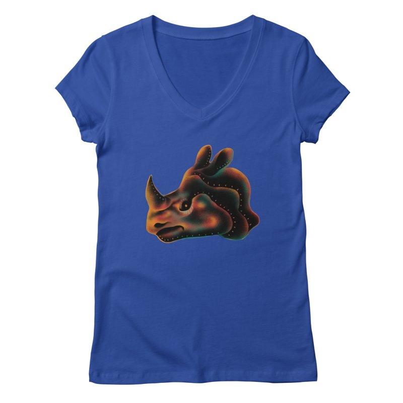 Rhino strength Women's V-Neck by barmalisiRTB