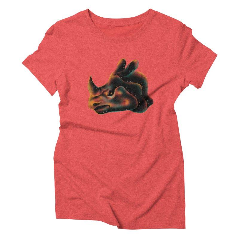 Rhino strength Women's Triblend T-Shirt by barmalisiRTB