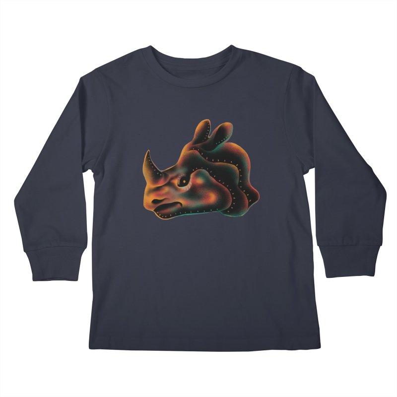 Rhino strength Kids Longsleeve T-Shirt by barmalisiRTB