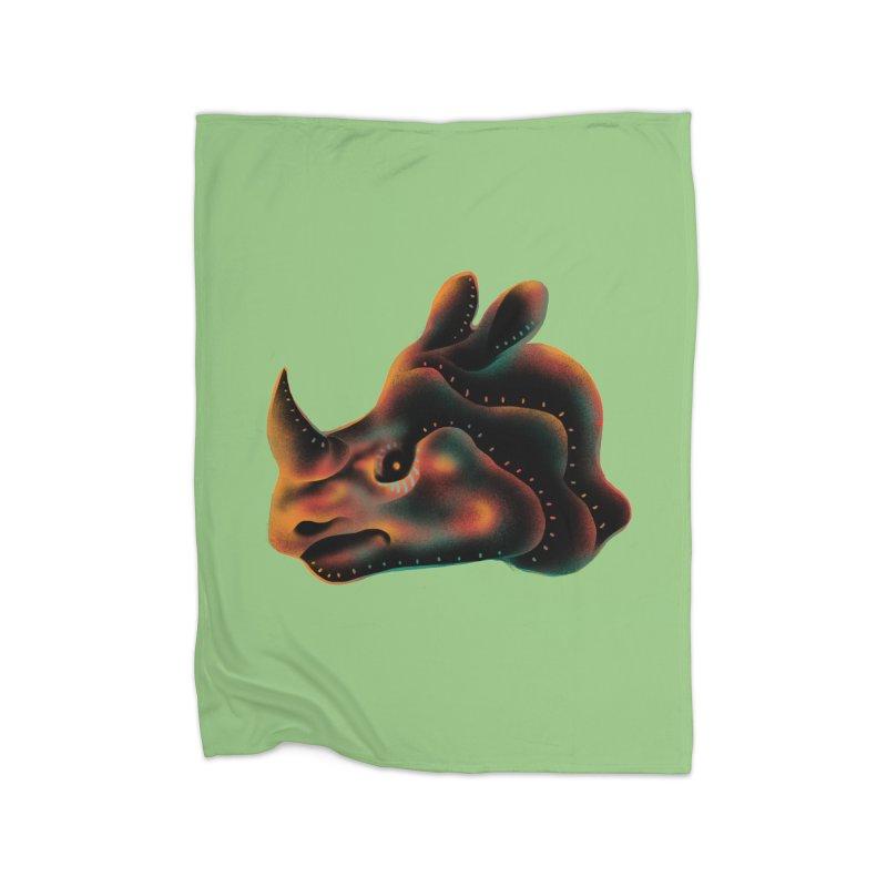 Rhino strength Home Fleece Blanket Blanket by barmalisiRTB
