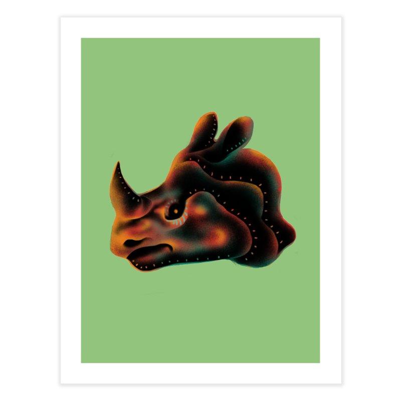 Rhino strength Home Fine Art Print by barmalisiRTB