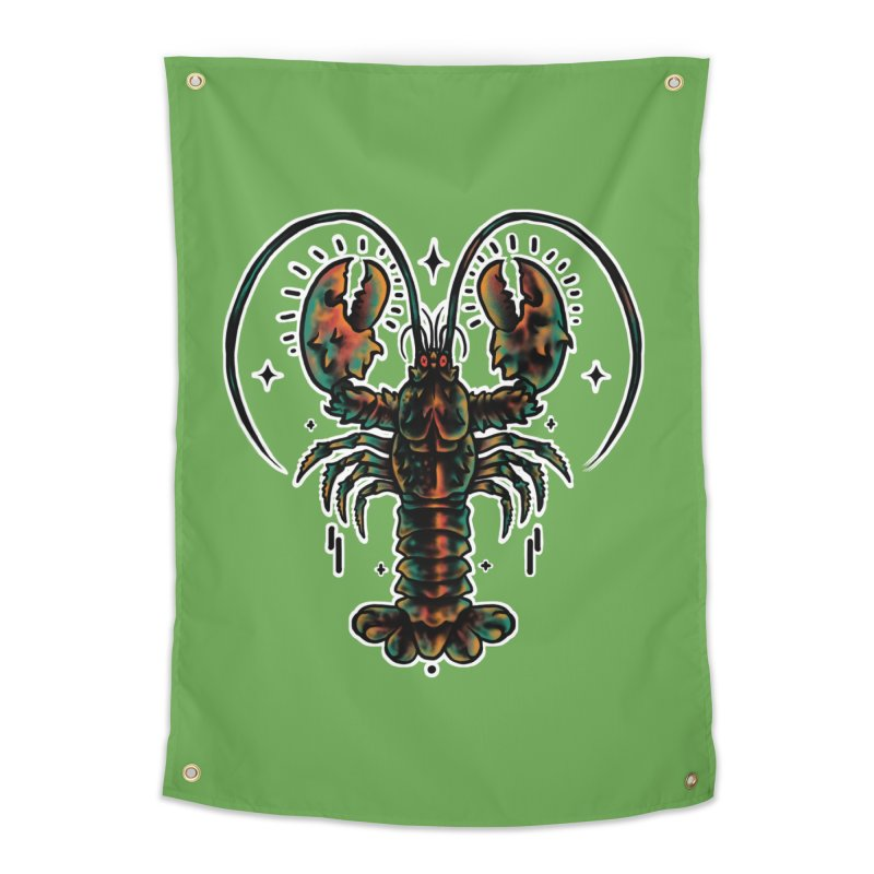 Lobster Guard Home Tapestry by barmalisiRTB