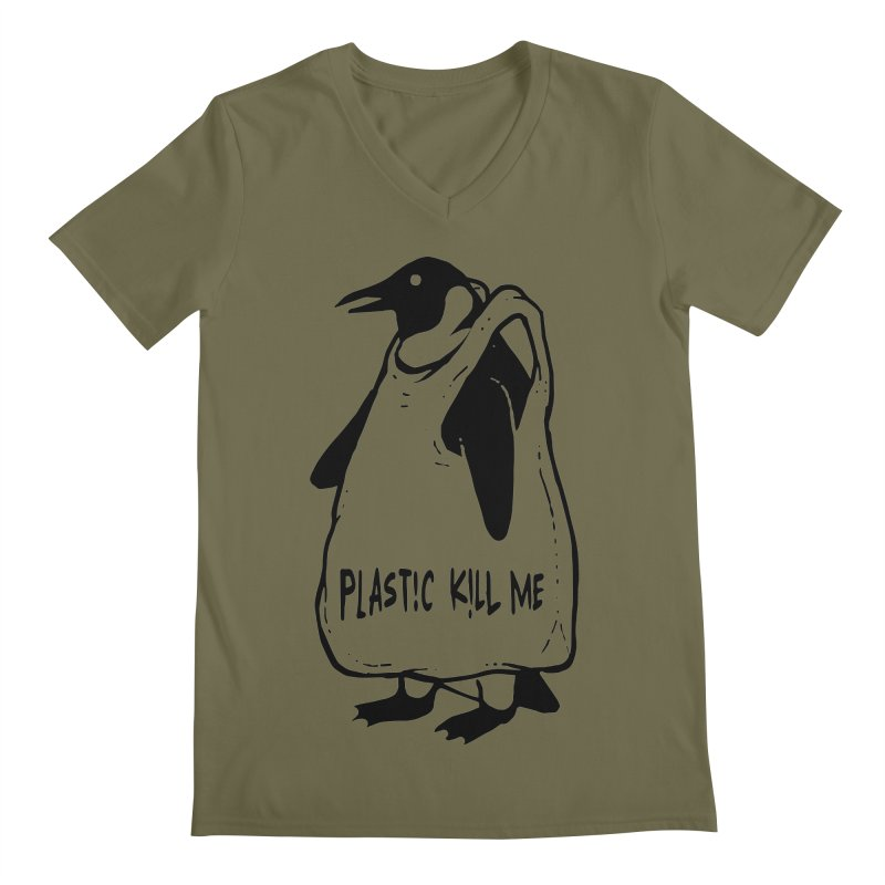 Plastic kill me Men's Regular V-Neck by barmalisiRTB