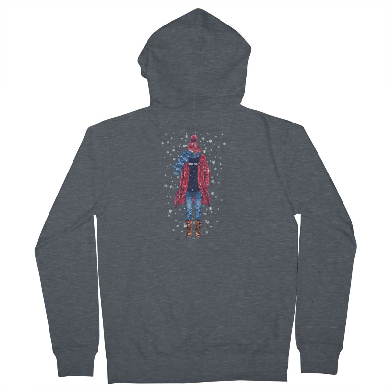 Snow Cool Men's French Terry Zip-Up Hoody by barmalisiRTB