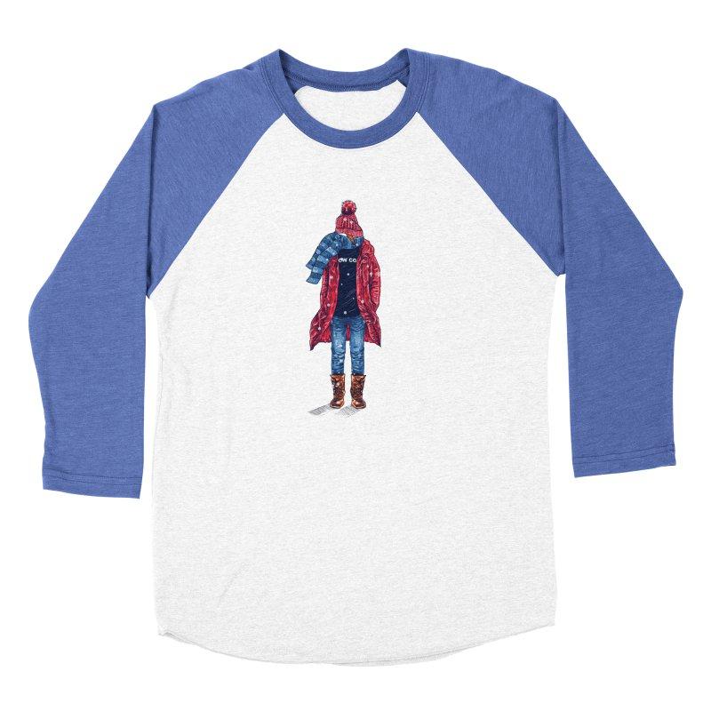 Snow Cool Women's Baseball Triblend Longsleeve T-Shirt by barmalisiRTB