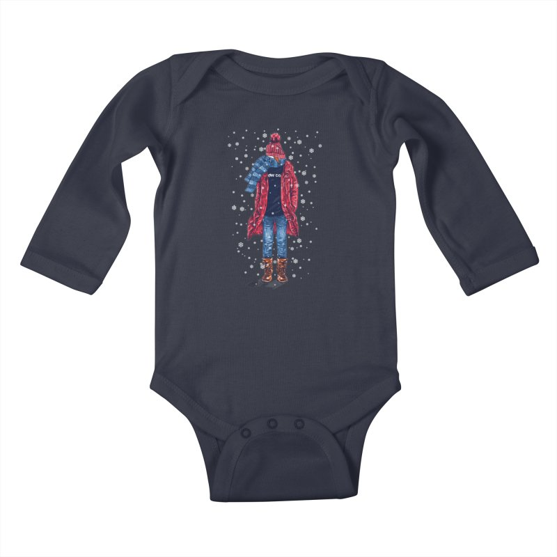 Snow Cool Kids Baby Longsleeve Bodysuit by barmalisiRTB