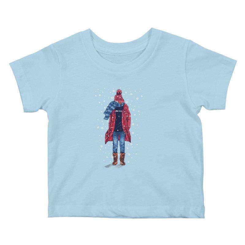 Snow Cool Kids Baby T-Shirt by barmalisiRTB