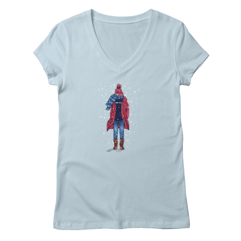 Snow Cool Women's V-Neck by barmalisiRTB