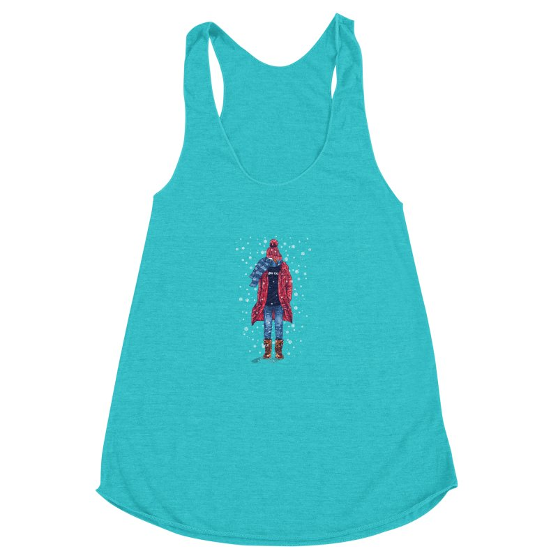 Snow Cool Women's Racerback Triblend Tank by barmalisiRTB