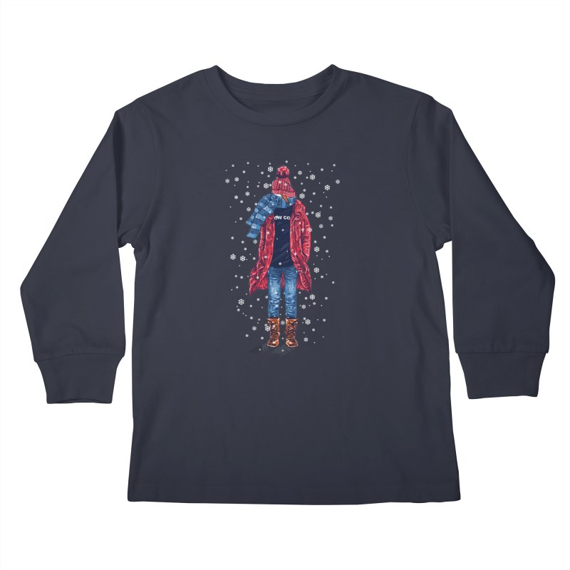 Snow Cool Kids Longsleeve T-Shirt by barmalisiRTB