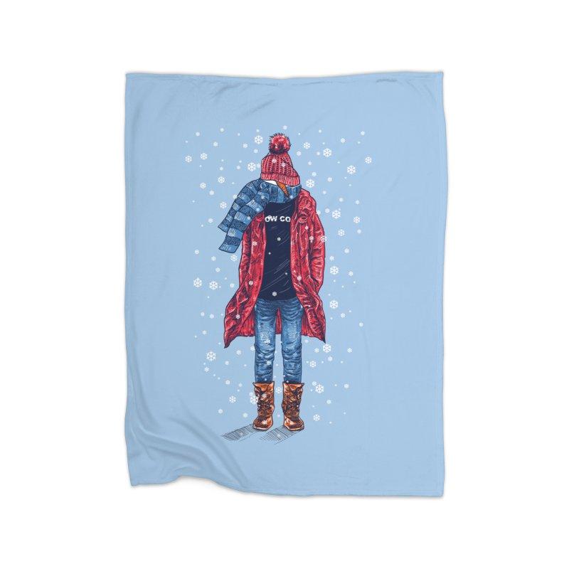 Snow Cool Home Fleece Blanket Blanket by barmalisiRTB
