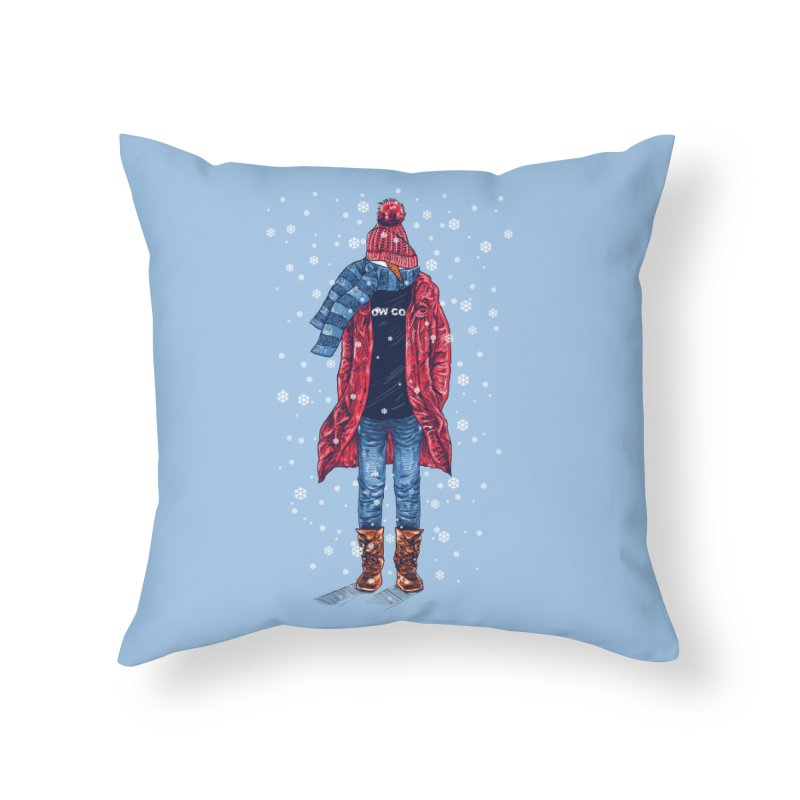 Snow Cool Home Throw Pillow by barmalisiRTB