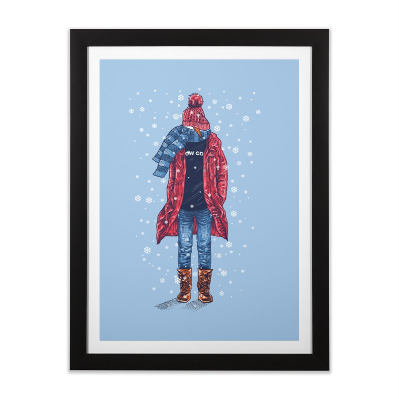 Snow Cool Home Framed Fine Art Print by barmalisiRTB